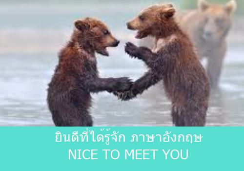 ยินดีที่ได้รู้จักภาษาอังกฤษ